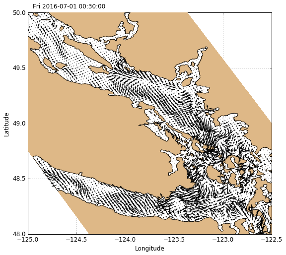 Visualisation of NEMO/GEM/Observations using XArray — Salish